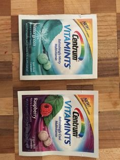 I am signed up for Smiley360.com and I Centrum tried VitaMints for free. They have two flavors - Wintergreen mint and Raspberry. Get a mint and vitamin all in one!  Try them.