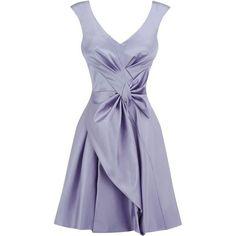Karen Millen Purple Cute Bow Dress ❤ liked on Polyvore