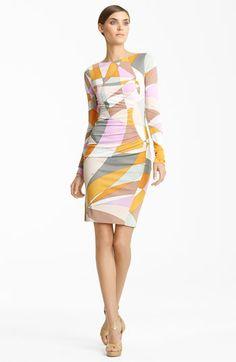 Emilio Pucci Geometric Print Jersey Dress