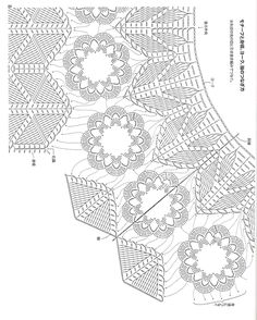 Irish lace, crochet, crochet patterns, clothing and decorations for the house, crocheted. Zig Zag Crochet, Crochet Lace Edging, Crochet Cardigan Pattern, Crochet Blouse, Crochet Chart, Filet Crochet, Irish Crochet, Crochet Skirts, Crochet Clothes