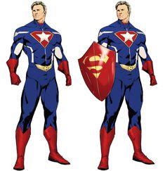 Marvel Dc, Marvel Comics Art, Marvel Heroes, Superhero Art Projects, Superhero Design, First Superman, Hq Dc, Super Soldier, Superhero Characters