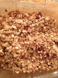 Homemade granola, click on the link for the easy recipe