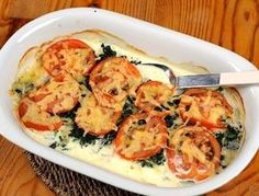 Ugnstekt torsk med tomat och spenat