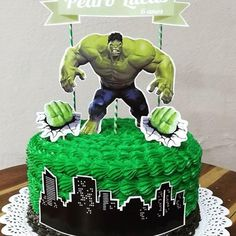 Outstanding Cool cars photos are available on our site. Have a look and you wont be sorry you did. Hulk Birthday Cakes, Hulk Birthday Parties, Bolo Super Man, Hulk Cakes, Hulk Party, Superhero Cake, Bday Girl, Cakes For Men, Cake Designs