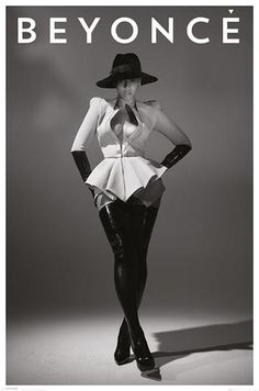Beyonce - Hat - Official Poster. Official Merchandise. Size: 61cm x 91.5cm. FREE SHIPPING