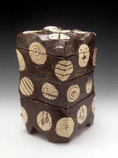 Goro Suzuki - Set of 4 Stacked Boxes #pottery #Japanese_pottery #ceramics #Japanese_ceramics #box