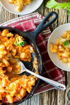 Vegan Cheesy Cauliflower and Potato Bake from The Abundance Diet