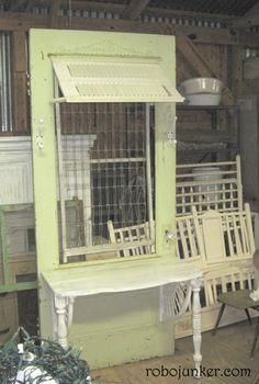 diy old door projects | DOORS & WINDOWS / DIY Craft Projects using Old Vintage Windows Doors