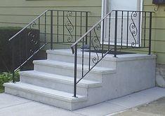 Tuck Precast Home Concrete Sealer, Precast Concrete, Reinforced Concrete, Cement Steps, Patio Steps, Wrought Iron Porch Railings, Ohio Weather, Iron Handrails, Green Garden