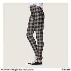 Printed flannel plaid leggings