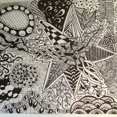 Crazy and has no direction Tangle Doodle, Doodles Zentangles, Zen Doodle, Doodle Art, Doodle Patterns, Zentangle Patterns, Adult Coloring Book Pages, Coloring Books, Zen Colors