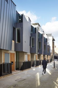 Edgley Design completes London terrace with angular zinc-clad frontage London Architecture, Architecture Details, Modern Architecture, Residential Architecture, Zinc Cladding, Interior Cladding, Social Housing, Georgian Homes, Commercial Design