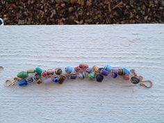 Bronze Wire Crochet Colorful Wooden Beaded by LadybugCharJewelry, $20.00