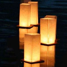 Amazon.com: Wishlantern® - Pack of 2 Floating Lanterns: Home Improvement; could be used for centerpieces @ a wedding with battery operated candle.