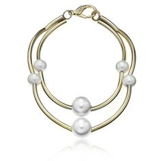 The GOLD and 6 PEARL BALL 2 ROW NECKLACE from Janis Savitt.  Artistic and elegance, for your evening. _______________________ https://www.zindigo.com/sharer.php/0/0/3729/8509