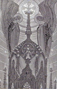 Ezio Anichini serie Immagini sacre - 24. Domus áurea