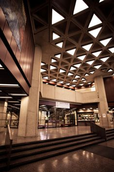 The interior of the Robarts Library, the University of Toronto's main library.