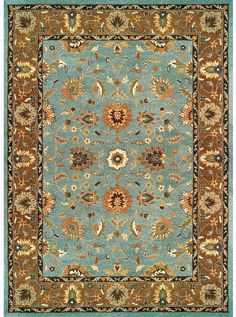 This Magellan Light Blue Brown Collection Rug 8270f Is Manufactured By Feizy