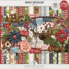 Woodsy Winterland | Kit Paying respect to all things comfy, cozy, and rustic when it comes to the holidays (and winter in general)... Woodsy Winterland is a collabration between myself and Wishing Well Creations by Laura Passage