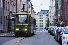 Line 10 tram at the Tarkk'ampujankatu terminus Helsinki Rail Europe, Light Rail, Helsinki, Finland, Street View, Country, World, Cable, Cabo