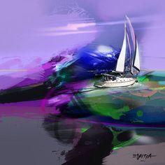 Crash Movement / Mixed media on canvas / 15.8 x 15.8 inches / Rafael Espitia