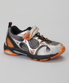 Look at this #zulilyfind! Gray & Orange Turtle Tuff Sneaker by Jumping Jacks #zulilyfind. For T...