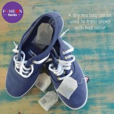 A quick fashion hack using dry tea bags to save you from all the  embarrasing moments you have with smelly shoes! Place dry tea bags in your  shoes overnight ... 12baeb71b5