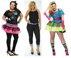 Plus Size Retro 80s Costumes for ladies
