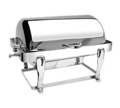 Eastern Freedom Chafer 8 quart - 3604FS/SS  Freedom Chafer, 8 quart, rectangular, heavy duty stainless steel, roll-top cover stops at any angle, dripless feature, w/food guard, 180° full roll back, includes dual sterno, food and water pans