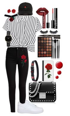 """""""Smells Like Roses"""" by umyesgrl ❤ liked on Polyvore featuring T By Alexander Wang, NIKE, ROSEFIELD, Bling Jewelry, MICHAEL Michael Kors, Casetify, Lime Crime, Charlotte Russe, Morphe and Illamasqua"""