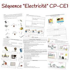 Voici une séquence portant sur l'électricité pour une classe de CP ou de CE1. Les séquences nécessitant des manipulations ne sont pas toujours simples à mettre en place, mais cette année, c'est décidé, je me lance! J'ai construit cette séquence pour une classe de CE1, mais elle peut être menée en CP. J'ai également adapté une séquence pour des groupes de Grande Section/CP avec des fiches différenciées pour des élèves en difficulté de CP/CE1. Cette séquence propo...