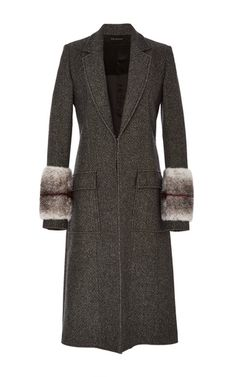 Prism Mink Trim Coat by WES GORDON for Preorder on Moda Operandi