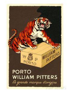 Get 'Em Tiger Vintage Wine Advertising Poster by Polkadotdog Wine Advertising, Advertising Poster, Monster Horror Movies, Wine Barrel Wedding, Tiger Poster, Super Strong Magnets, Vintage Wine, Vintage Style, Port Wine