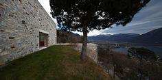 Stone House KÜ in Brione sopra Minusio, Ticino, Switzerland. Switzerland, Stone, Architecture, Plants, Photography, Houses, Stone Houses, Tiny Houses, Outdoor Spaces