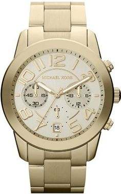 Michael Kors Mercer Quartz Champagne Dial Women's Watch - MK5726 Michael Kors. $203.49. Champagne Dial With Gold-Tone Numerals. Round Case 42mm With Smooth Gold Tone Bezel. Gold-Tone Stainless Steel Bracelet. Chronograph with 3 Hand Quartz movement, Logo and Date Window. Water resistant to 100 meters