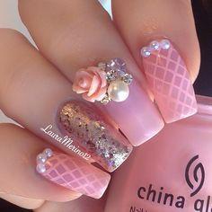 ♡ #pinknails #nailart