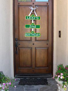 Elmo party door sign by allyson Wood Front Doors, Painted Front Doors, Barn Doors, Timber Door, Entry Doors, Entrance, Painted Exterior Doors, Exterior Paint, Front Door Design