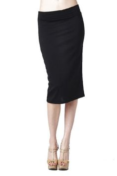 a207f4b29a7 82 Days Women S Ponte Roma Regular To Plus Below Knee Pencil Skirt - Solid  at Amazon Women s Clothing store  Skirts For Women