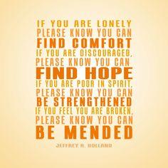 Be Mended. Elder Jeffrey R. Holland. The Church of Jesus Christ of Latter-Day Saints.