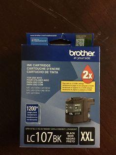New Brother LC107BK XXL Black Ink Cartridge Genuine MFC J4710DW Exp 06 2016 | eBay