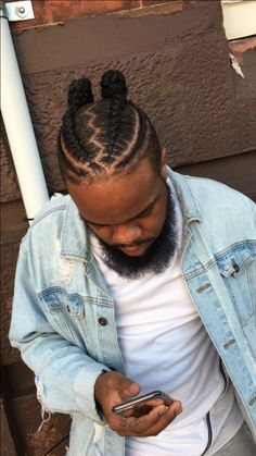 Must-try Braided Hairstyles – Lavish Braids Cornrow Hairstyles For Men, Black Men Hairstyles, Dope Hairstyles, Braids For Boys, Braids For Long Hair, Braided Man Bun, Curly Hair Styles, Natural Hair Styles, Braid Styles
