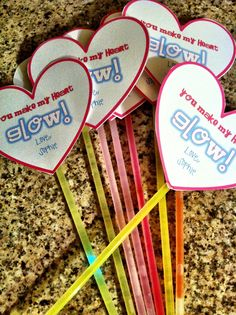 Girls Valentines with Glow Sticks, You Make My Heart Glow!  (no candy)    Cinnaberry Suite: valentine's