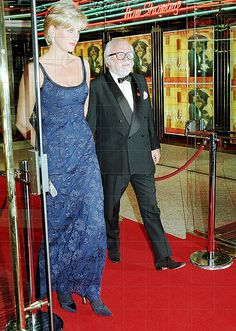 February 12, 1997: Diana, Princess of Wales at 'Love and War' premiere directed by Sir Richard Attenborough in London.