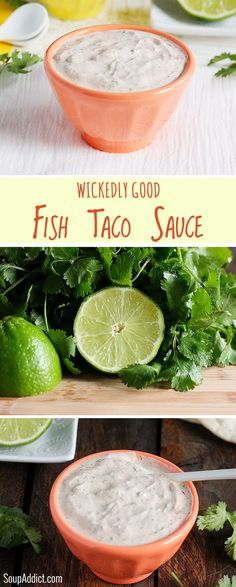 Wickedly Good Fish Taco Sauce - the best white sauce for your fish tacos | SoupAddict.com