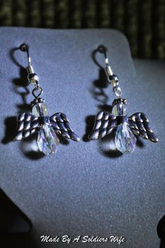 Angel Dangle Earrings by MadeByASoldiersWife on Etsy