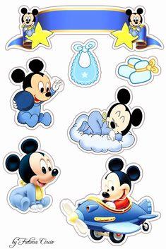 New baby cards photo 43 ideas Baby Mickey Mouse, Bolo Mickey E Minnie, Festa Mickey Baby, Theme Mickey, Mickey Mouse Birthday, Mickey Minnie Mouse, Baby Birthday, Disney Mickey, Baby Mickey Cake
