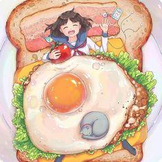 Artist: いちごちゃん Pixiv Member ID: 716297 Illustration ID: 61899363 Twitter: @ichigo_9696 Pic Size: 1060 × 1500 Source: Pixiv.net  Publication Date: 3/14/2017  Artist caption: 朝ごはん 飯テロを目指した。 *女の子*セーラー服*猫*インコ*オリジナル*朝食*食べ物  ILYSM 126.3k+ followers 💕 These pics aren't mine We heart it: kawaiilandia Thanks for likes & follows ♡  Anime boys: @otokos Personal account: @anita.vo Vocaloid account: @pixivocaloid Couples account: @pixivcouples Account about my dog: @chihuahua.pinky  Hashtags…