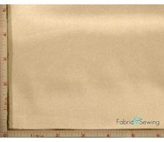 Cream Beige Shiny & Dull Stretch Charmeuse Satin Fabric 4 Way Stretch Polyester Spandex 5 Oz 57-58""