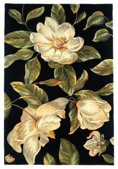 Catalina 0761 Magnolia Black Rug   Rug & Home #rugandhome @rugandhome