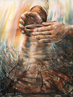 Images Bible, Bible Pictures, Religious Pictures, Christian Paintings, Christian Art, Lds Art, Bible Art, Jesus Art, God Jesus